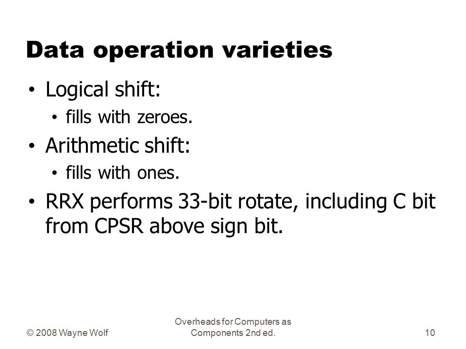 Data operation varieties