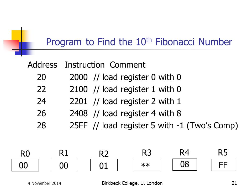 Program to Find the 10th Fibonacci Number