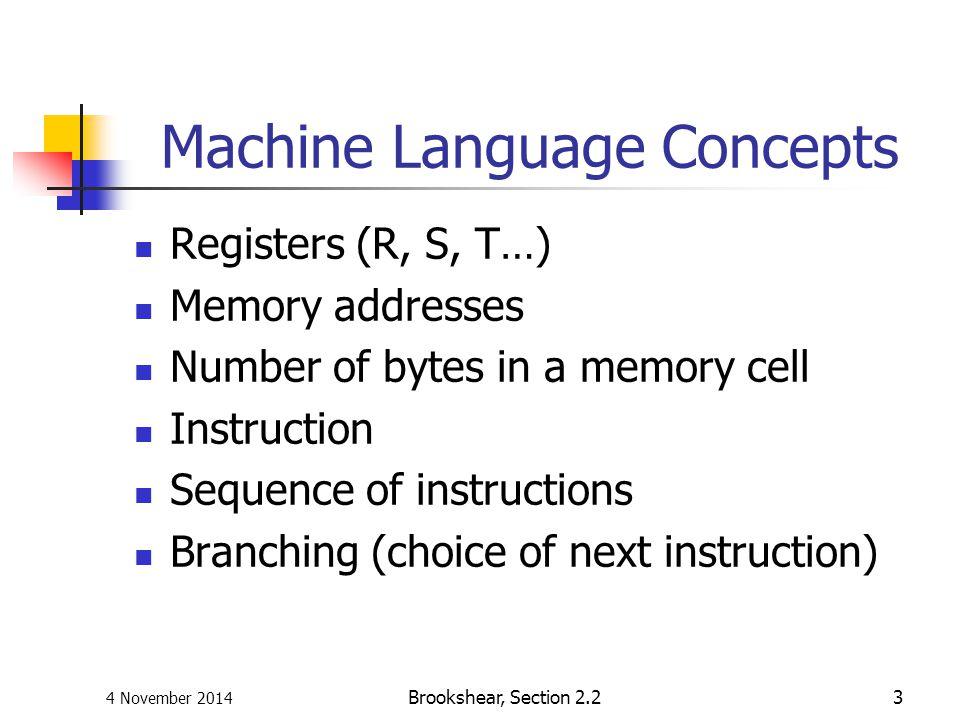 Machine Language Concepts