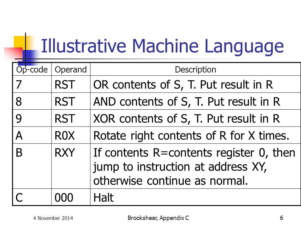 Illustrative Machine Language