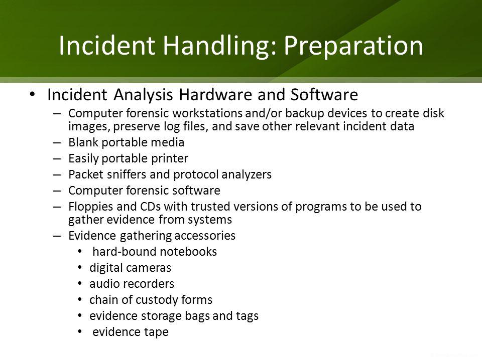 Incident Handling: Preparation