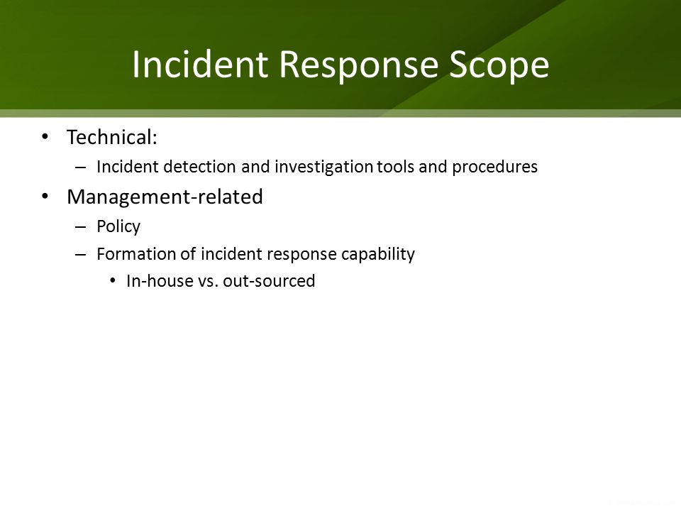 Incident Response Scope