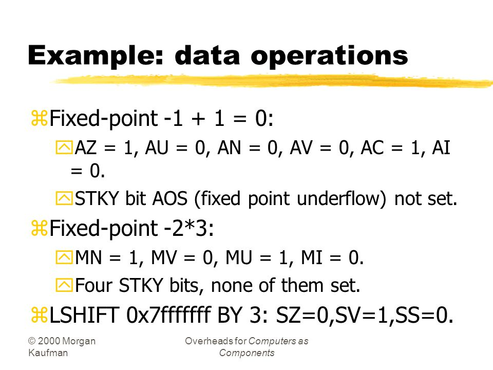 Example: data operations