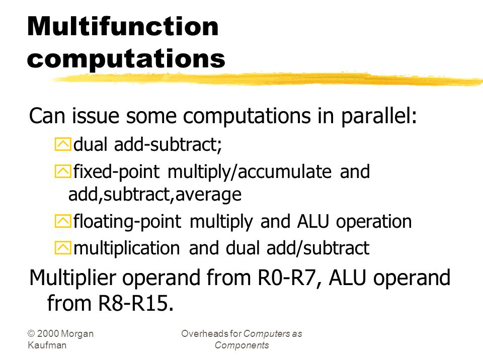 Multifunction computations