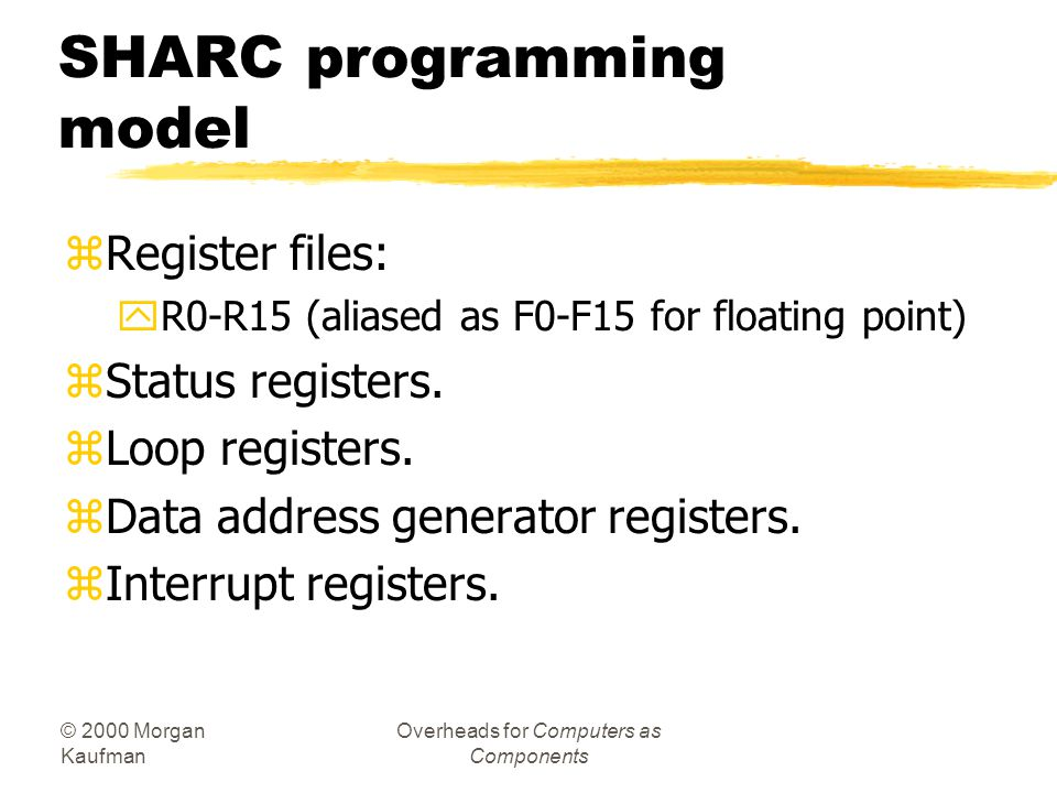 SHARC programming model