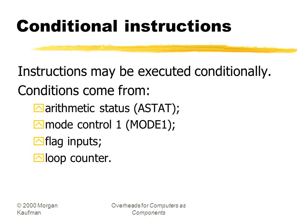 Conditional instructions