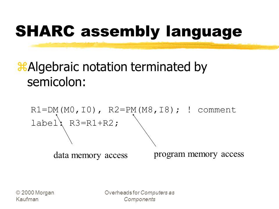 SHARC assembly language