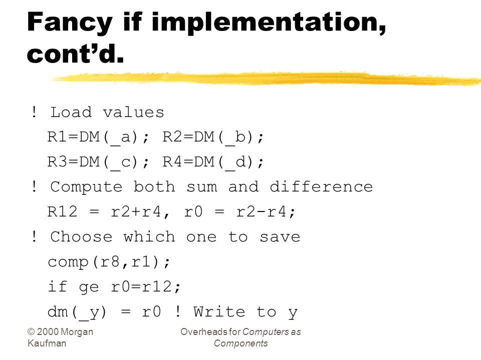Fancy if implementation, cont'd.