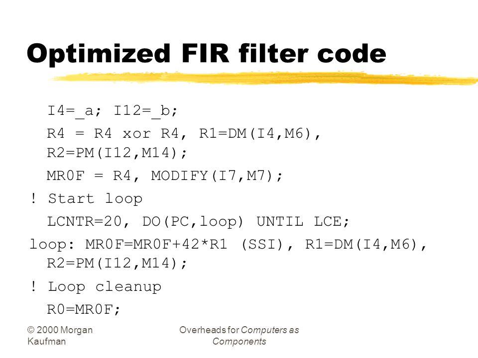 Optimized FIR filter code