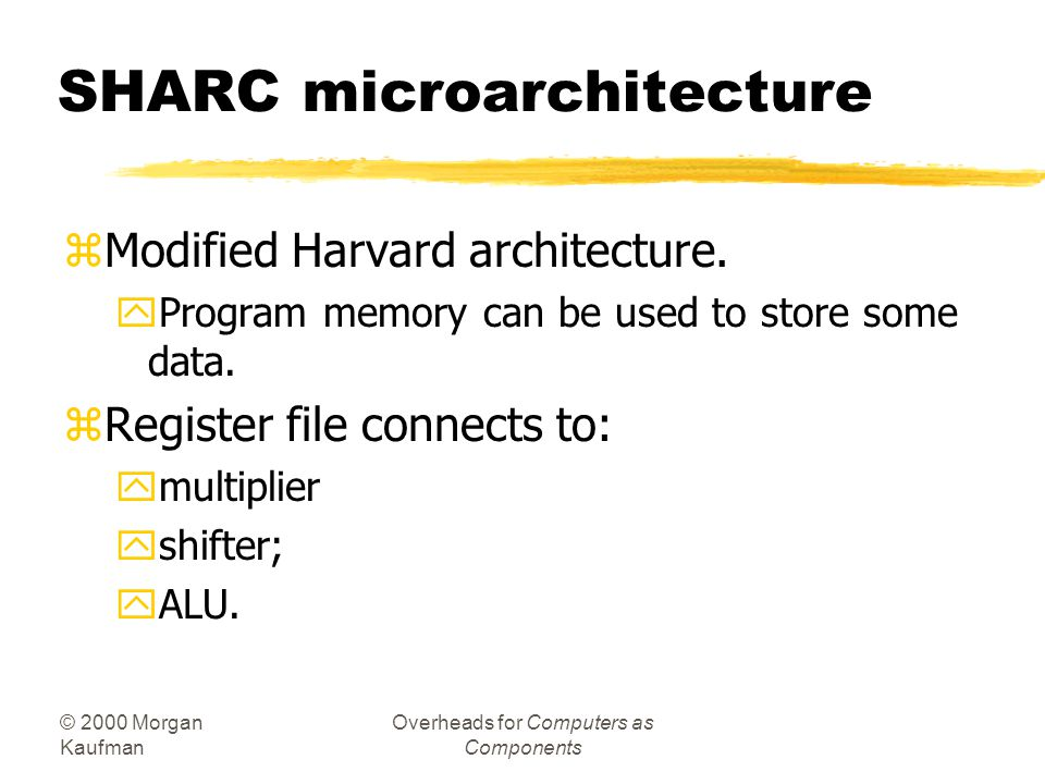 SHARC microarchitecture