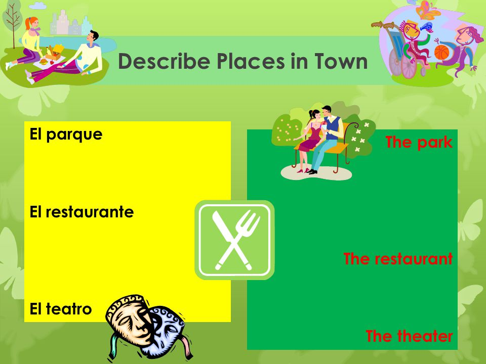 Describe Places in Town