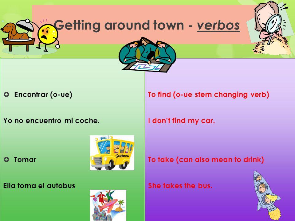 Getting around town - verbos