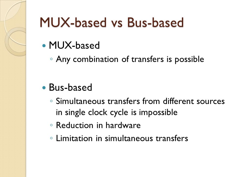 MUX-based vs Bus-based