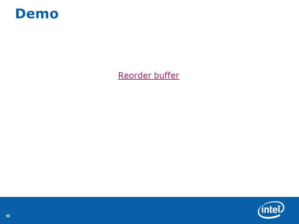 Demo Reorder buffer