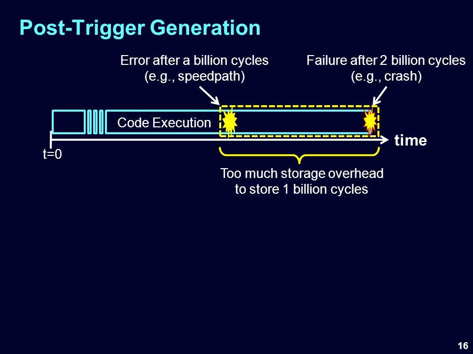 Post-Trigger Generation