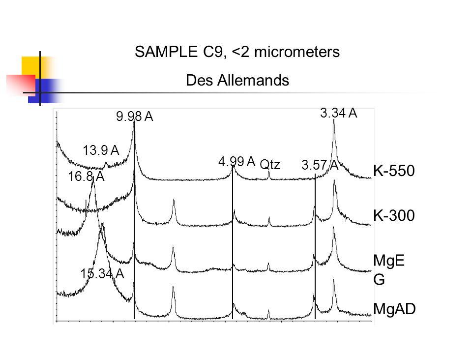 SAMPLE C9, <2 micrometers