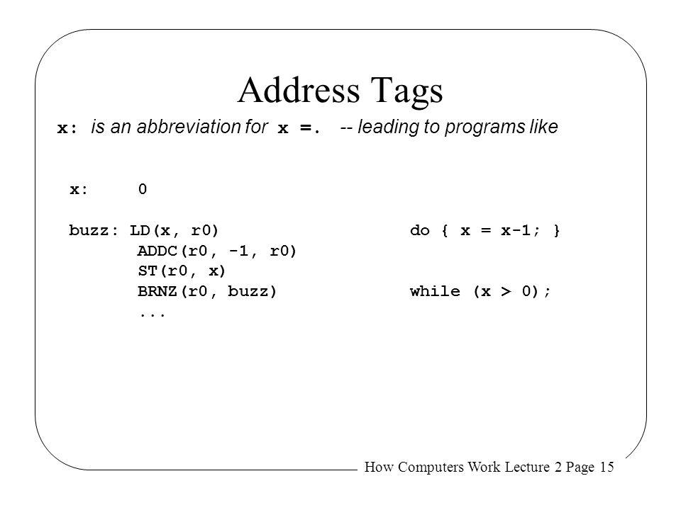 Address Tags Will loop 232 times!