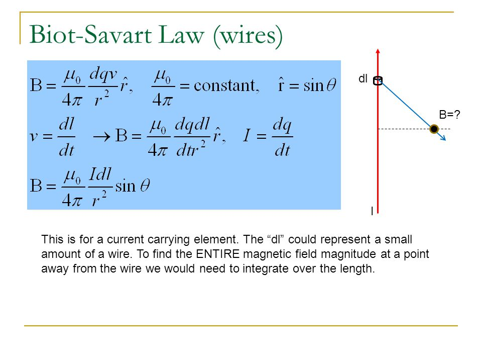 Biot-Savart Law (wires)
