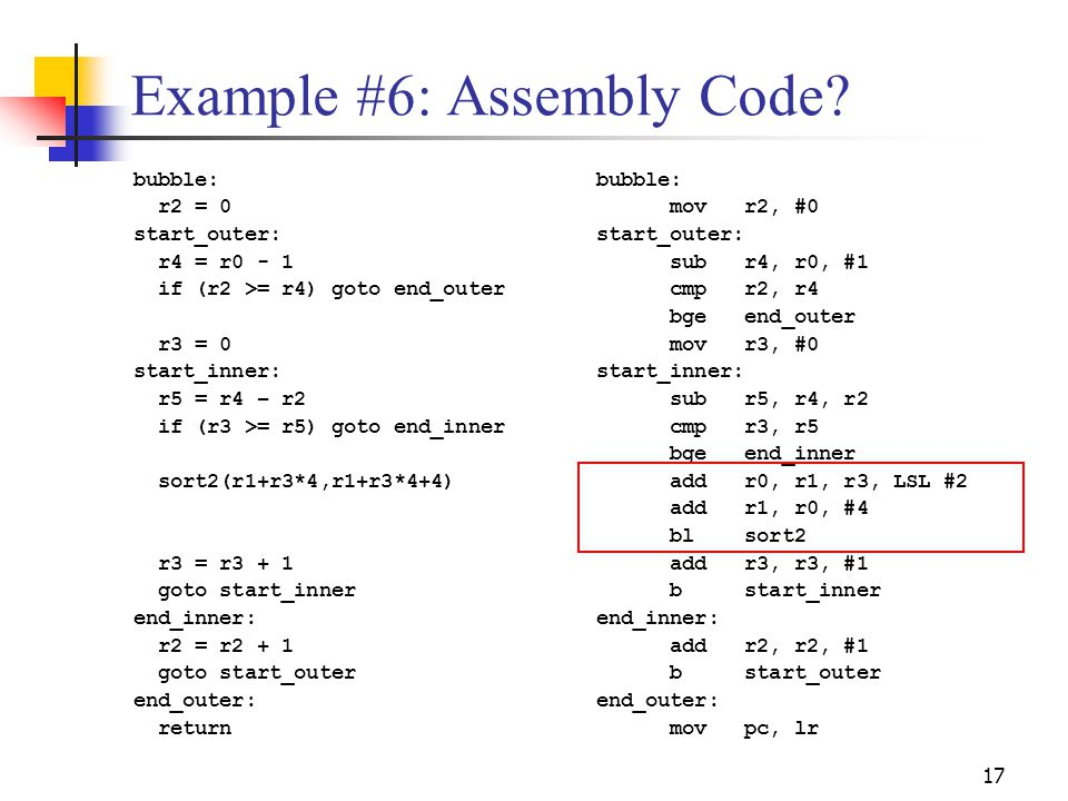 Example #6: Assembly Code