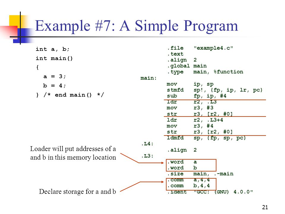Example #7: A Simple Program