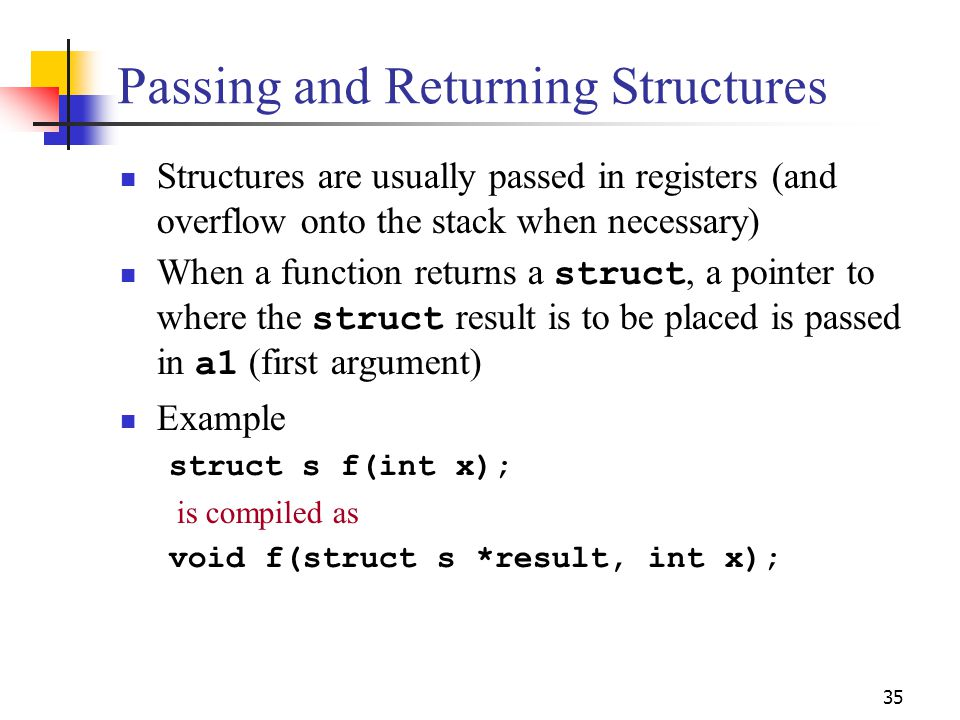 Passing and Returning Structures