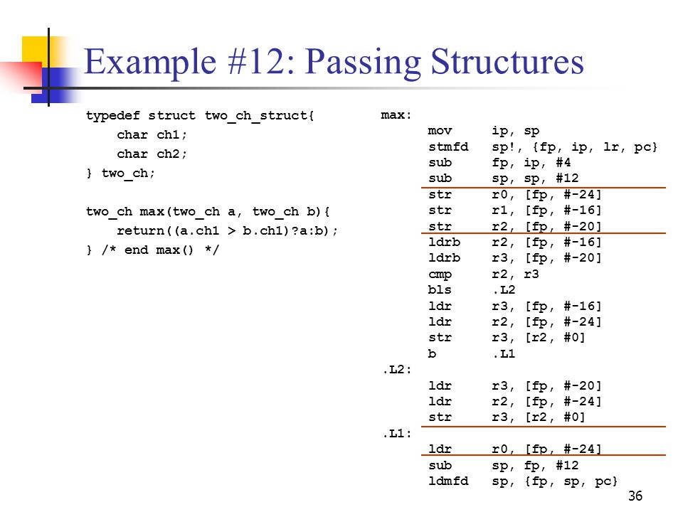 Example #12: Passing Structures