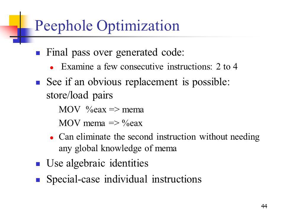 Peephole Optimization