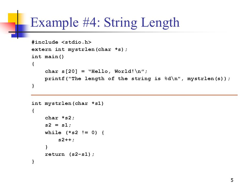 Example #4: String Length