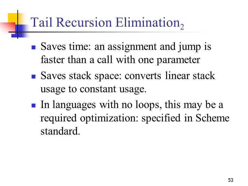 Tail Recursion Elimination2