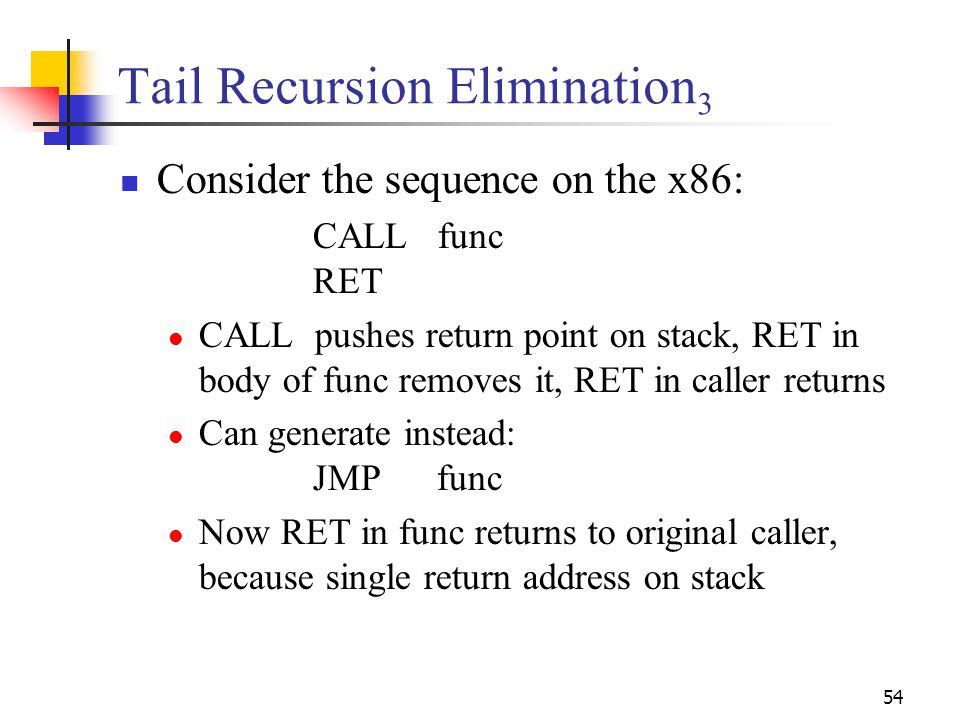 Tail Recursion Elimination3