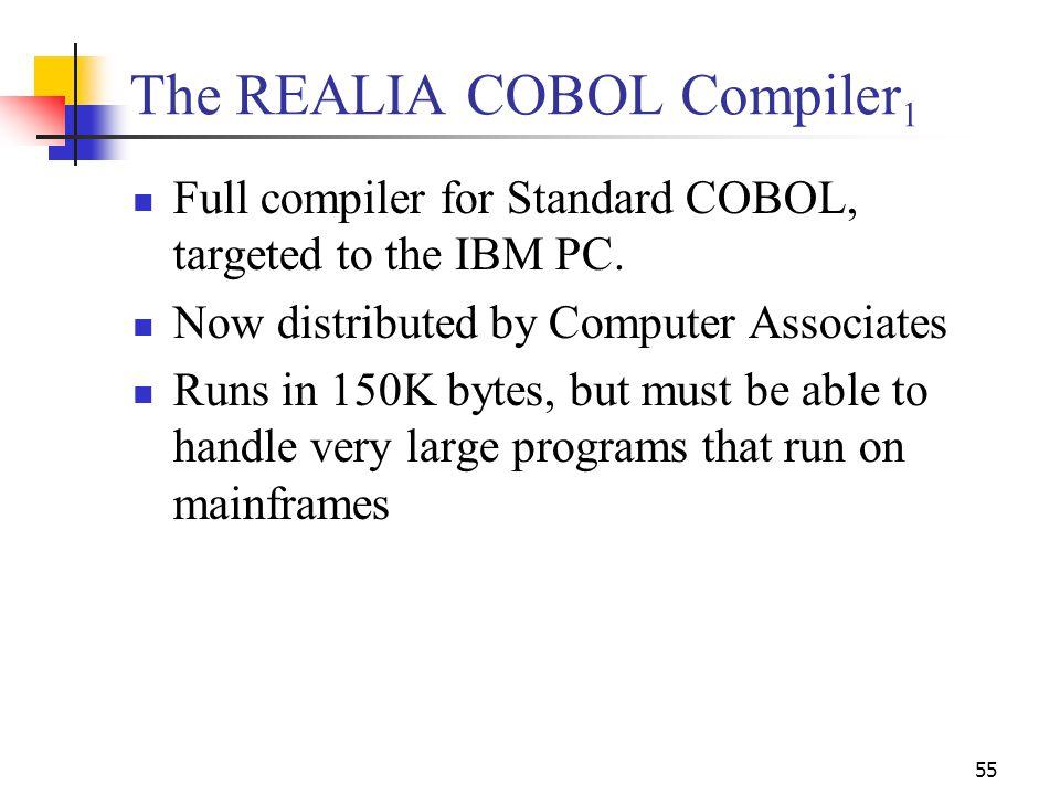 The REALIA COBOL Compiler1