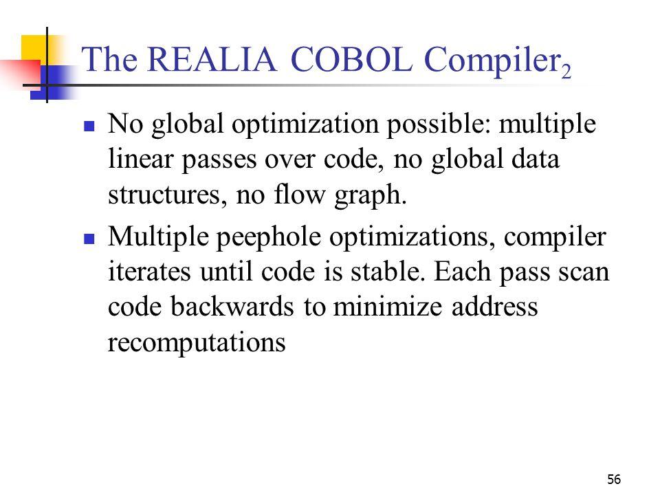 The REALIA COBOL Compiler2
