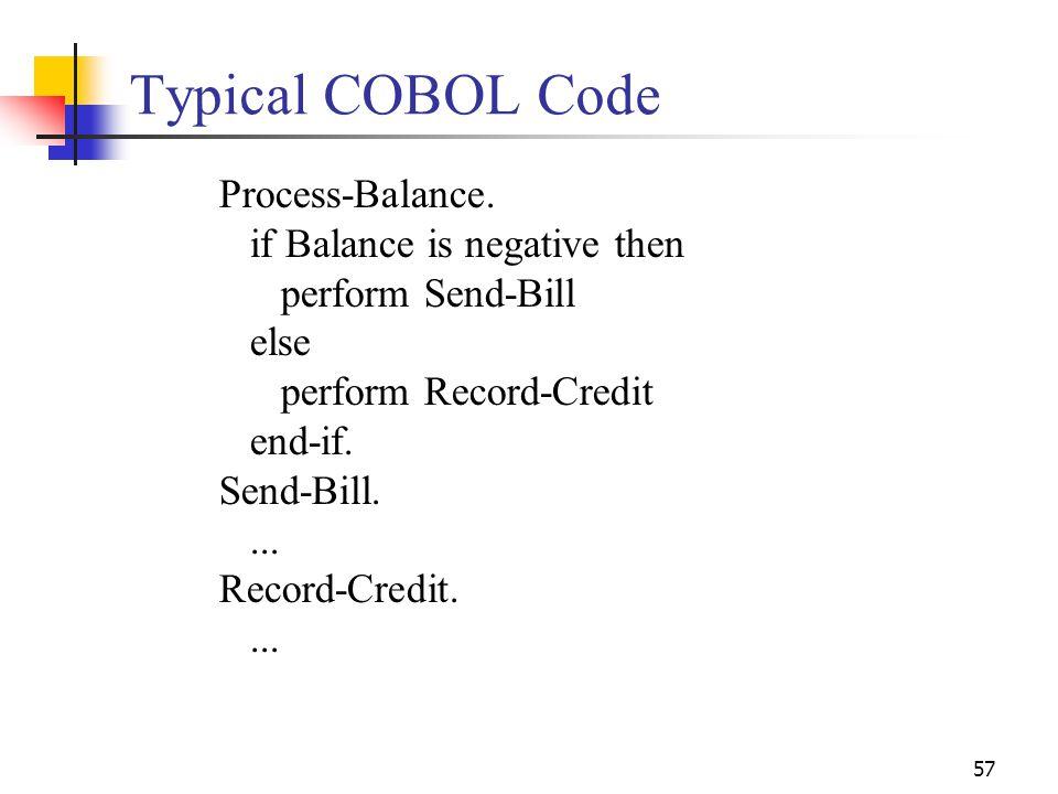 Typical COBOL Code