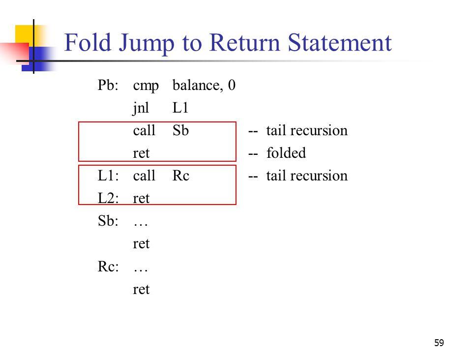 Fold Jump to Return Statement