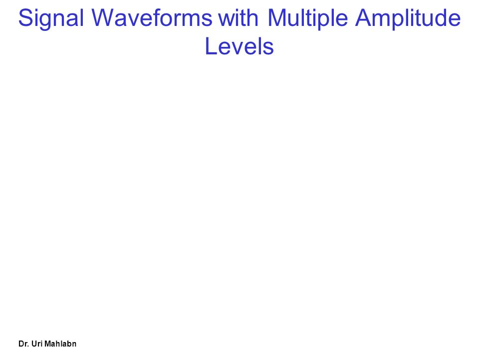 Signal Waveforms with Multiple Amplitude Levels
