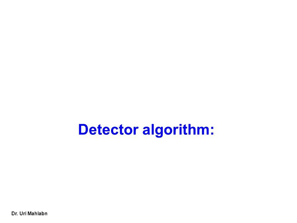 Detector algorithm: