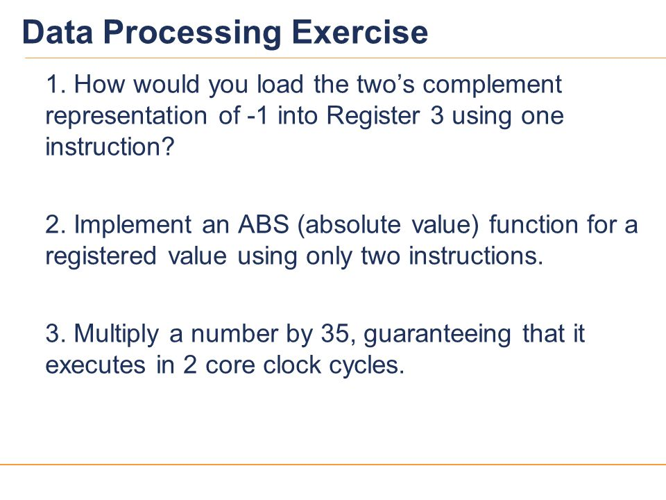 Data Processing Exercise