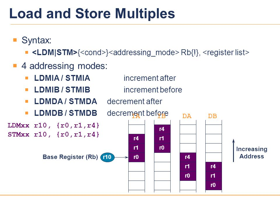 Load and Store Multiples
