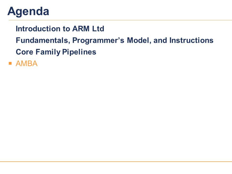 Agenda Introduction to ARM Ltd
