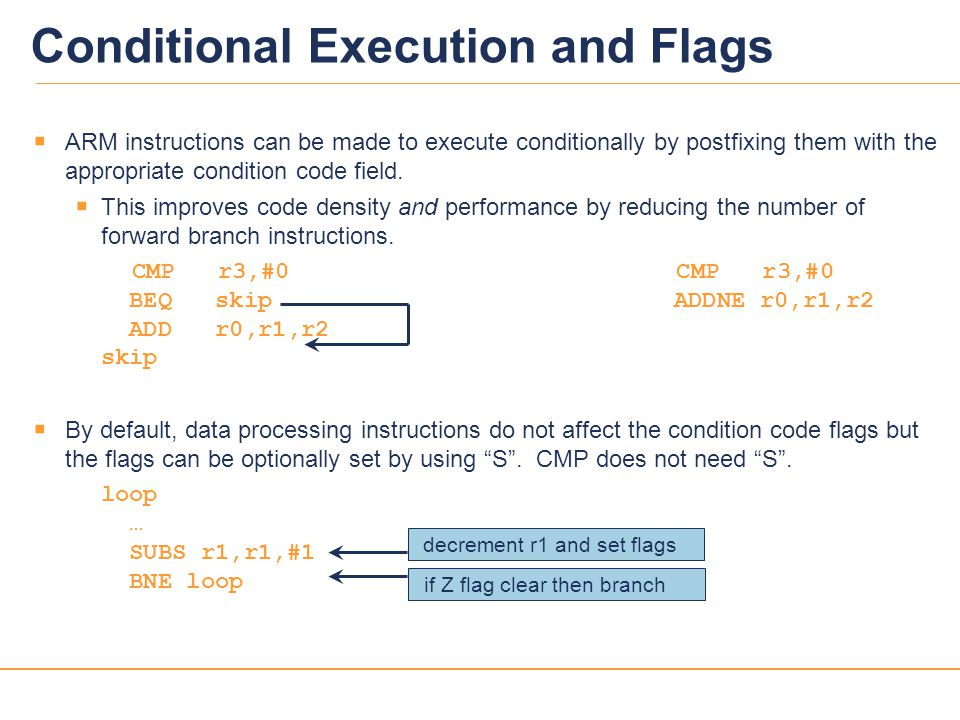 Conditional Execution and Flags
