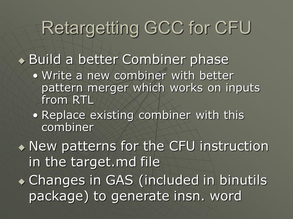 Retargetting GCC for CFU