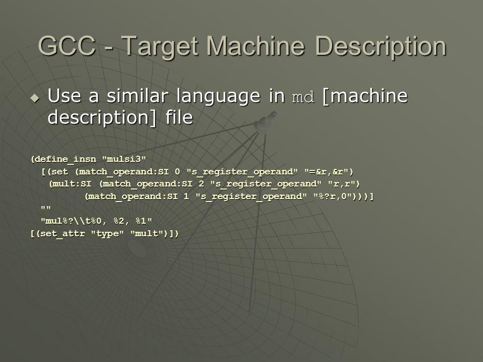 GCC - Target Machine Description