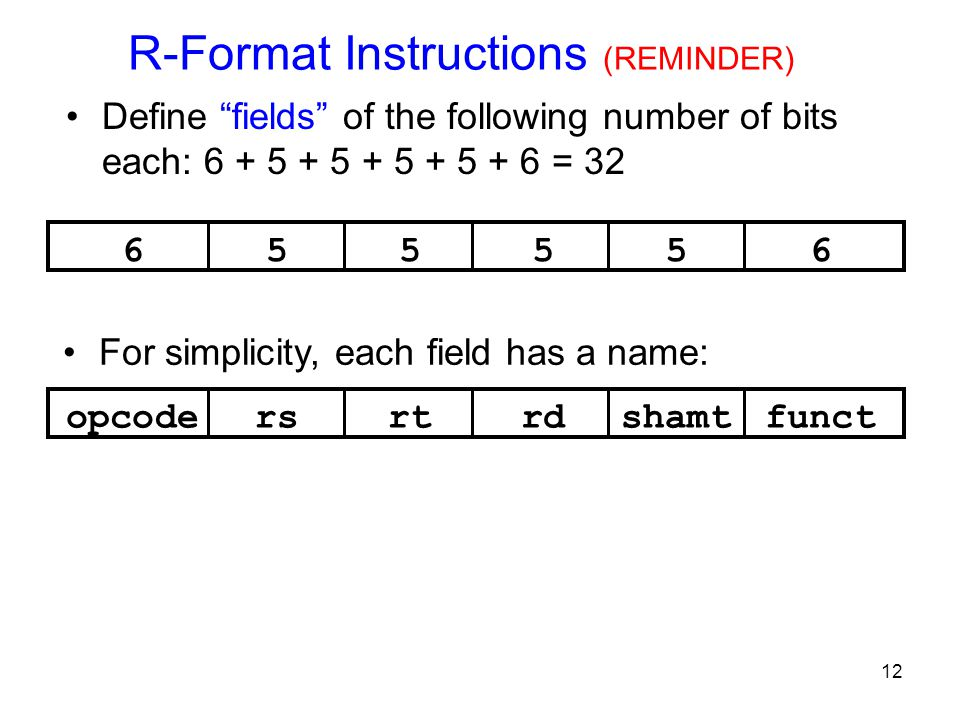 R-Format Instructions (REMINDER)