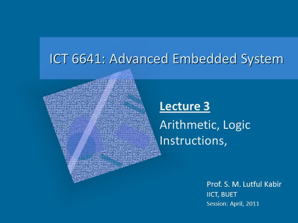 Lecture 3 Arithmetic, Logic Instructions,