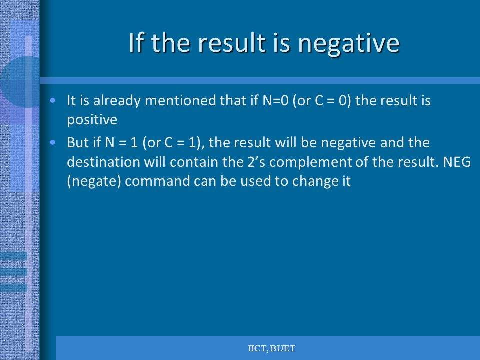 If the result is negative