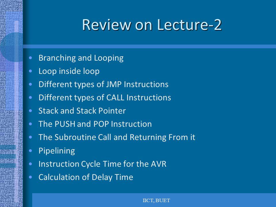 Review on Lecture-2 Branching and Looping Loop inside loop