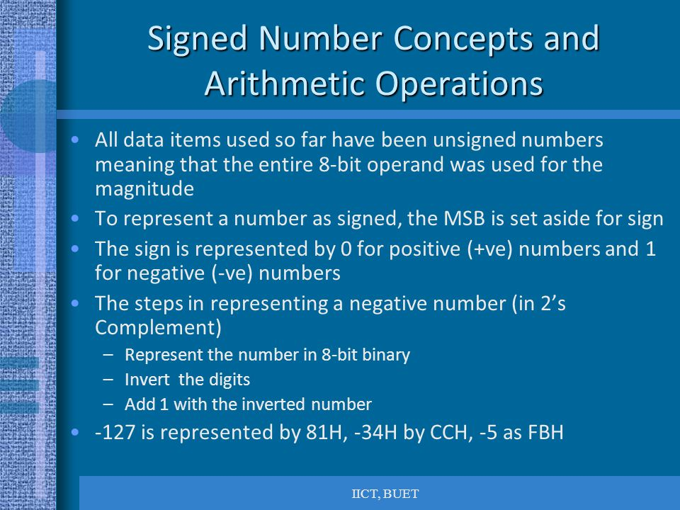 Signed Number Concepts and Arithmetic Operations
