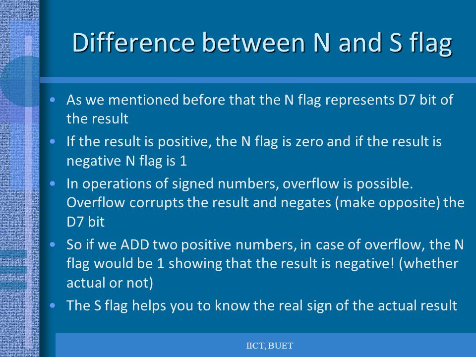 Difference between N and S flag