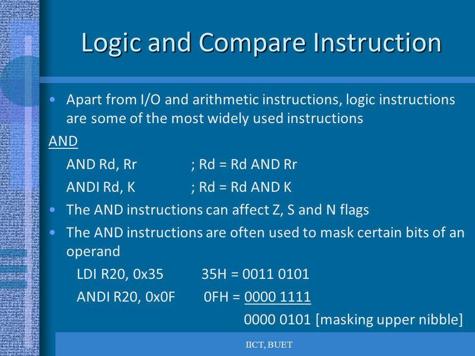 Logic and Compare Instruction