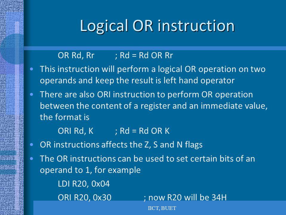 Logical OR instruction